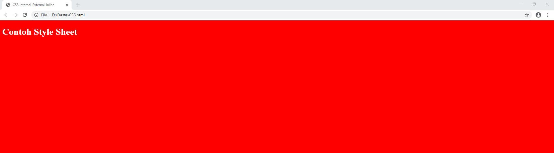 Internal, External, Dan Inline Di CSS