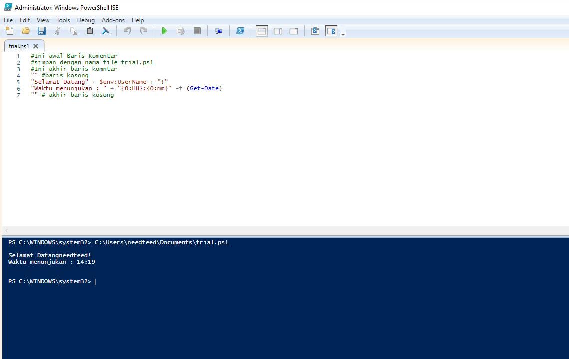 Kode Shell Script