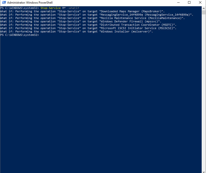 Whatif PowerShell
