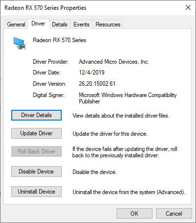 Sekarang kalian dalam Safe Mode, lakukan pencarian sistem untuk device manager dan pilih hasil yang sesuai. Perluas opsiDisplay adapter.Klik kananopsi di dalam dan pilihProperties. BukatabDriver.