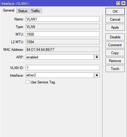 Konfigurasi Interface VLAN Di MikroTik