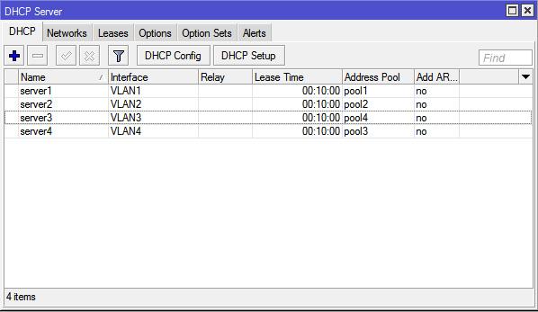 Membuat DHCP Server Untuk VLAN MikroTik