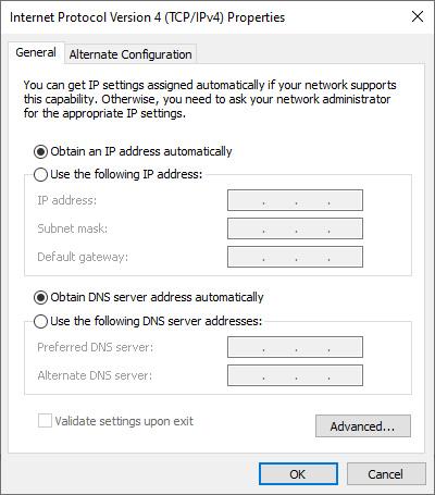Obtain IP Address