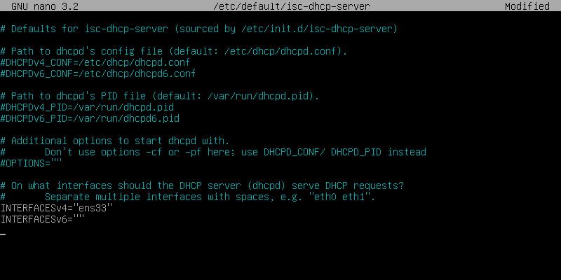 Etc Default Isc-dhcp-server