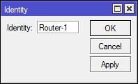 Memberi Identitas Router MIkroTik