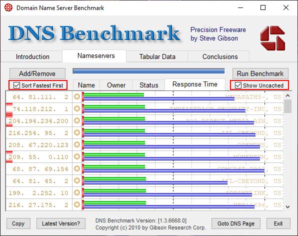 Hasil DNS Benchmark