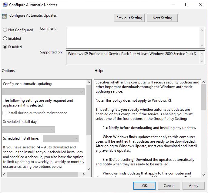 Mematikan Update Windows Menggunakan Group Policy