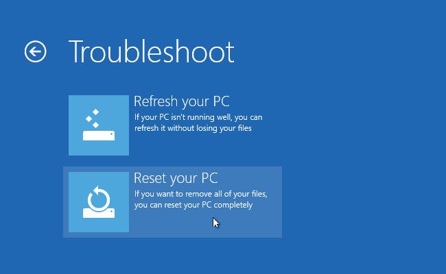 Reset Your PC Windows 10