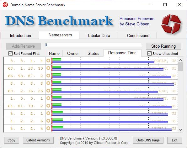 Run DNS Benchmark