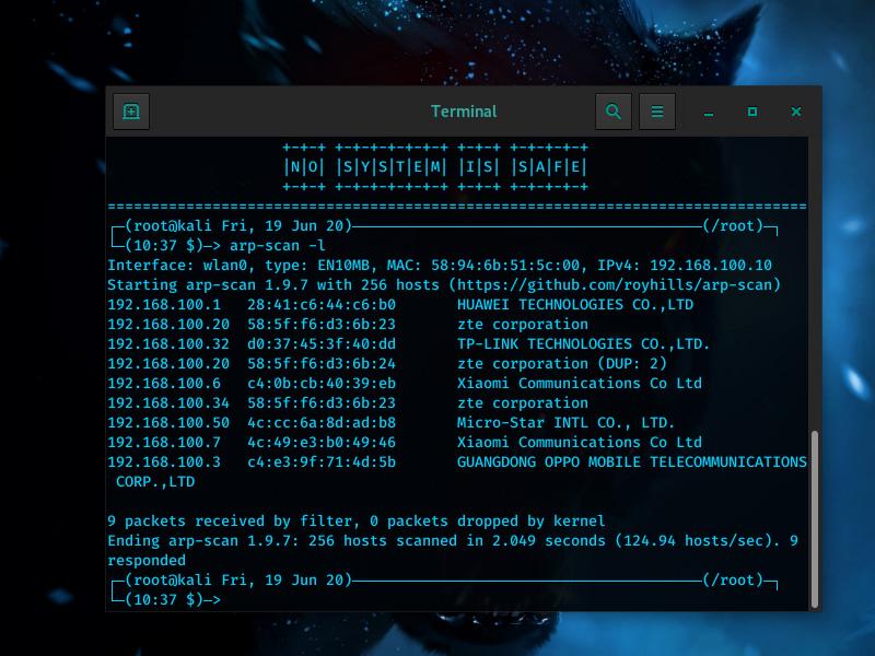 Perintah ARP Terminal Linux