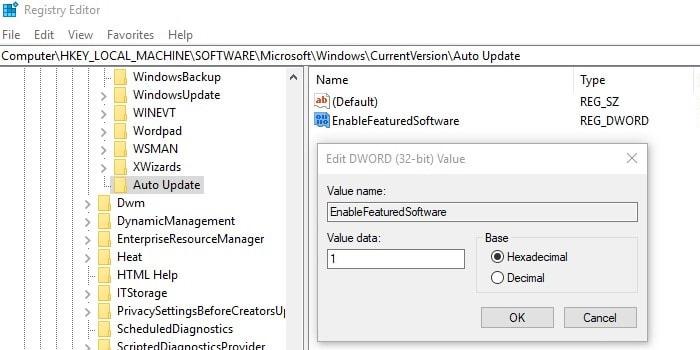 EnableFeaturedSoftware
