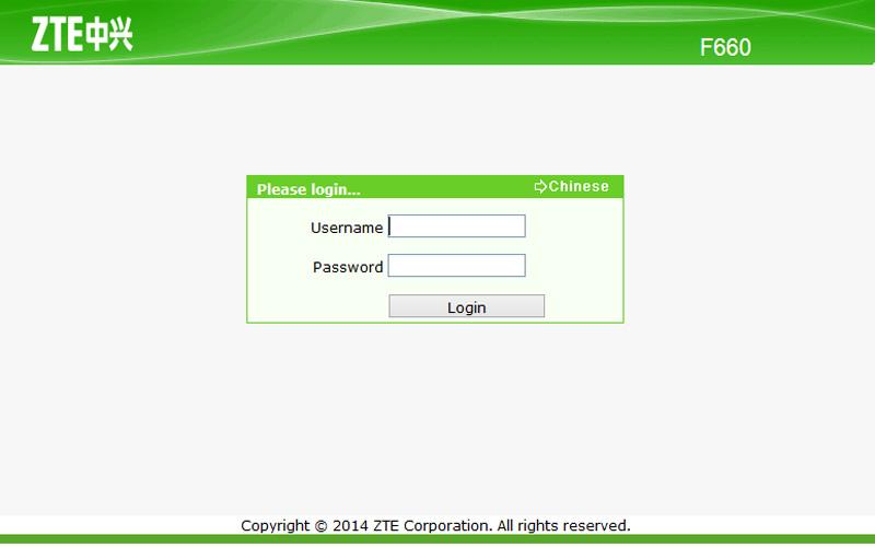 Password ZTE F660 Terbaru