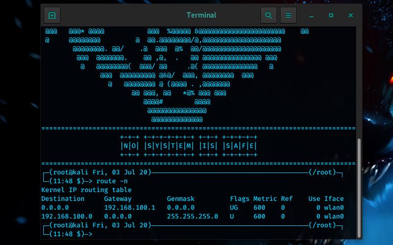Perintah Route Linux