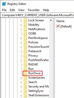RunOnce Registry Editor