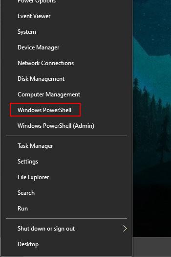 Windows Start Windows PowerShell