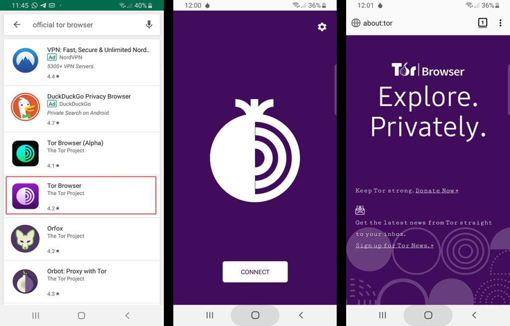 Cara Memasang Android Tor Browser