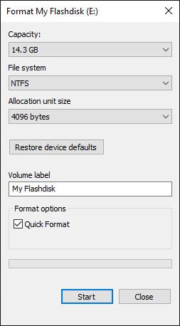 Format Flashdisk