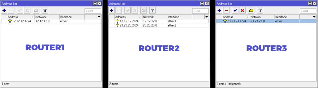 Konfigurasi IP Address MME Winbox