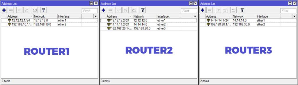 Konfigurasi IP Address Router MikroTik Winbox