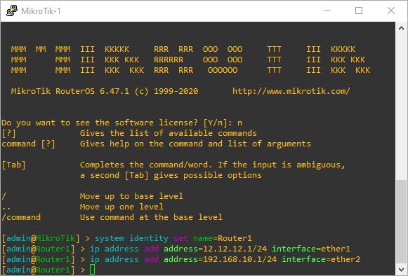 Konfigurasi IP Address Router MikroTik1