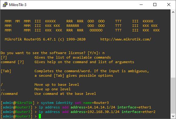 Konfigurasi IP Address Router MikroTik3