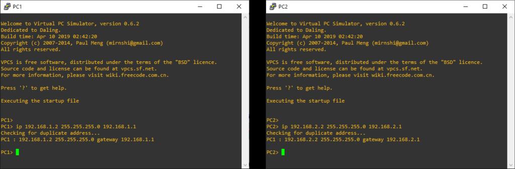 Konfigurasi IP PC Client GNS3