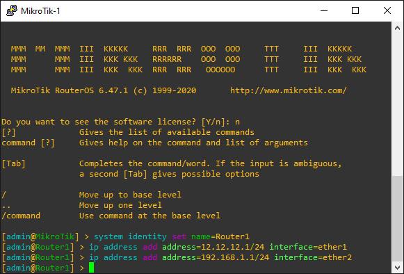 Konfigurasi IP Router MikroTik