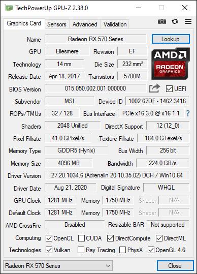 Check VGA Via GPU-Z